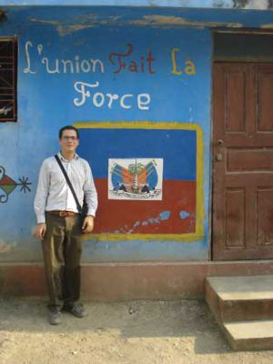 Pierre Minn in Leogane, Haiti, in 2009. / Photo courtesy of Pierre Minn.