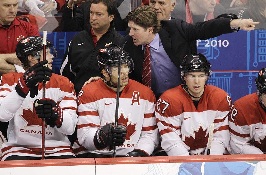 Mike Babcock, seen here leading Canada to Olympic Gold in 2010, will be head coach for Team Canada at the 2014 Games in Sochi Russia.