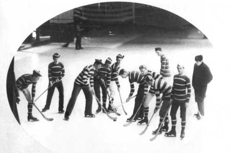 "McGill's men's hockey team is generally recognized as the first organized hockey team in the world. Taken in 1881, four years after the squad played its first game, this photo of the ""McGill senior hockey team"" is the first known photograph of hockey players in uniform."