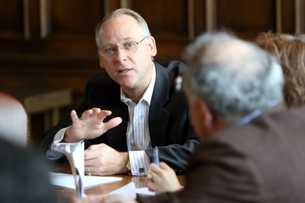 Christopher Ragan, economics professor and Chair of Canada's Ecofiscal Commission. / Photo: Owen Egan