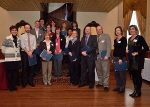 Graduates in the change agent stream with Lynne B. Gervais, Associate Vice-Principal, Human Resources (far left)