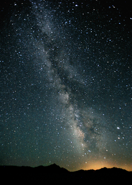 Photograph of the Milky Way in the night sky over Black Rock Desert, Nevada. / Photo courtesy of Wikimedia Commons.
