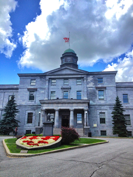 McGill's flags will fly at half-staff until July 17 half-staff in remembrance of the victims of last weekend's devastating rail disaster in Lac-Mégantic. / Photo Neale McDevitt