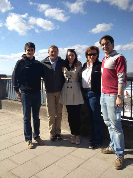 From left to right: Ed, Graham, Millie, Jane and Alex in Stockholm, Sweden. / Photo curtesy of Ed and Graham Durgan