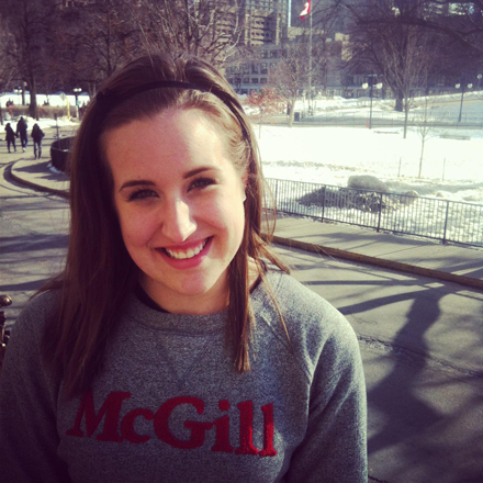"""""""I'm very optimistic,"""" says SSMU President Katie Larson of the opportunity to work with Principal Suzanne Fortier. """"She seems very excited to be back at McGill."""" Photo: Owen Egan."""