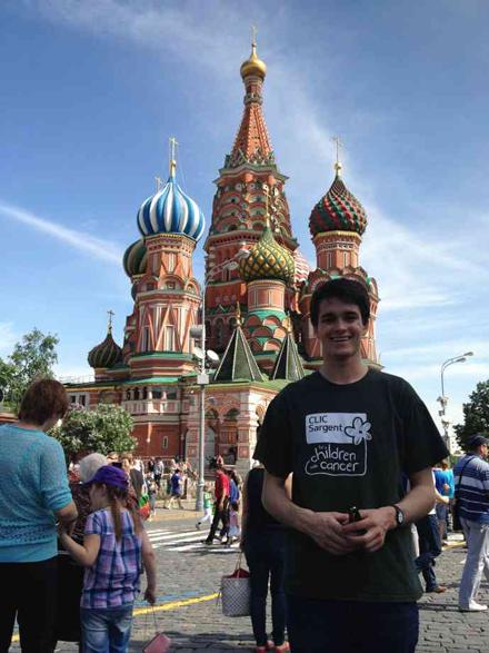 Ed in Moscow at the Kremlin. / Photo: Ed Durgan