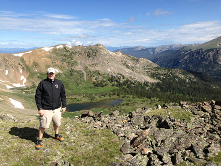 Sean Grogan stands atop Colorado's Mount Neva, whose summit is almost 4,000 metres above sea level. / Photo courtesy of Sean Grogan