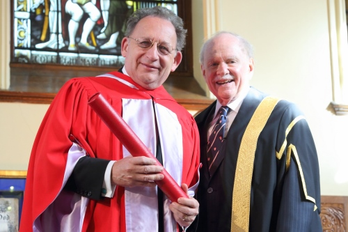 Boris Brott and Chancellor Arnold Steinberg
