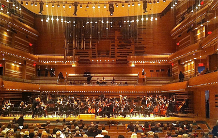 The McGill Symphony Orchestra played the spectacular Maison Symphonique for the first time. / Photo: Doug Sweet