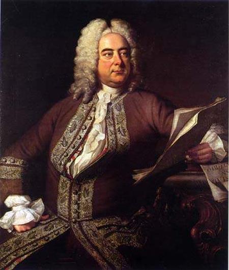 Portrait of Georg Friedrich Händel by Thomas Hudson.