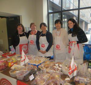 De gauche à droite:France Bruneau (SCS), Trisha Sante (HR), Nancy Wong (HR), Jueun Lee (SCS), Valerie Bello (SCS