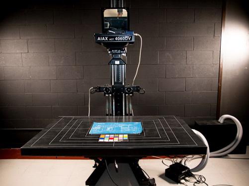 Digital Scanning Platform with Betterlight scan back, McGill Library. / Photo: Klaus Fiedler