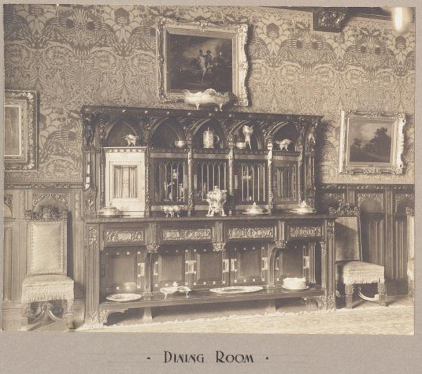 Edward Maxwell, architect, Dining Room Sideboard, Hosmer Residence, Drummond Street, Montreal, 1900.