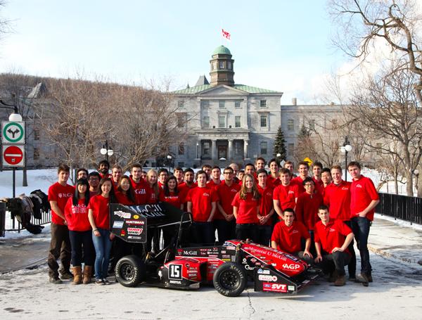 The 2014 McGill Racing Team. / Photo: McGill Racing Team