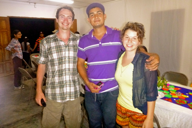 Throughout our 3 months in the field we became known faces in the communities we frequently visited. Their faces and stories become better known by us as well, and thus we made friends with young, old, and those of our own age. [From left to right] Sebastian, Miguel, and Kathleen at the First International Film Festival Closing Ceremony in Pirati. /