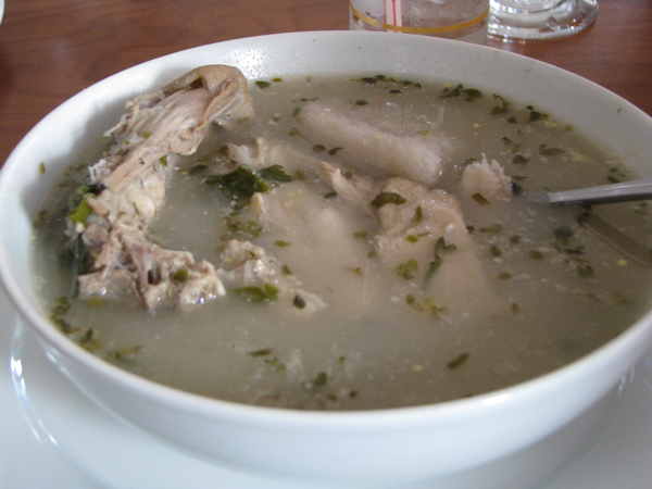 A bowl of sancocho, a typical meal in eastern Panama.