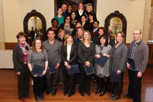 Lynne B. Gervais, AVP-HR with graduates in the supervisors group