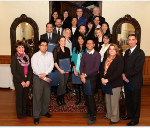 Lynne B. Gervais, AVP - HR with graduates in the change agents group