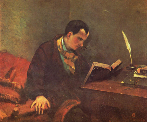 Portait of Charles Baudelaire by Gustave Courbet.