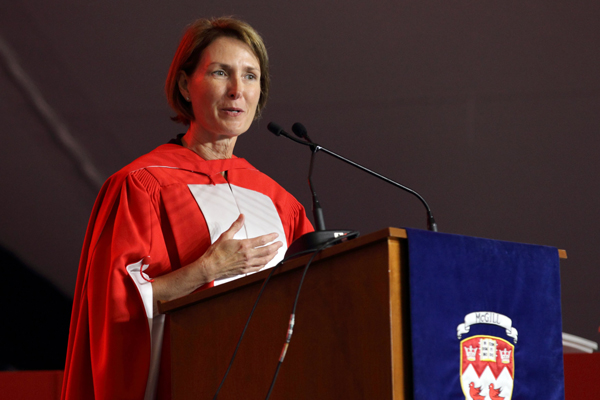 Mary Ellen Turpel-Lafond during the Faculty of Law ceremonies. / Photo: Owen Egan