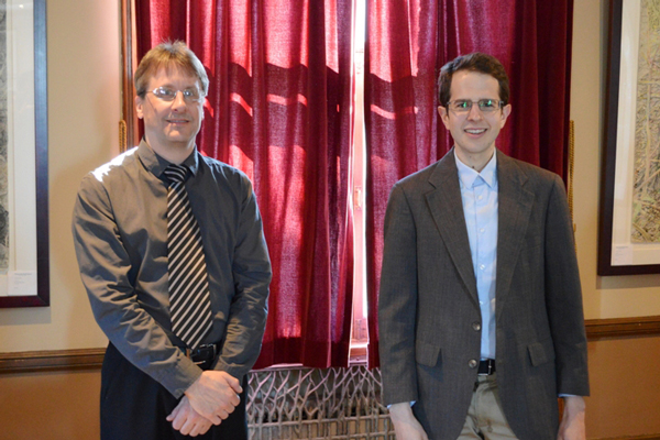 Jacob Sagrans (right) with Glenn Zabowski, Associate Dean of Students.
