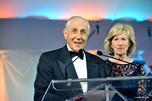 Morris and Rosalind Goodman at the Goodman Gala to raise funds for cancer research.
