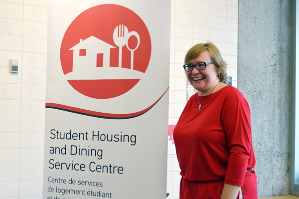 Janice Johnson, Managing Director, Residence Life and Customer Relations, at the launch of the Student Housing and Dining Service Centre. / Photo:  Kyle Godden