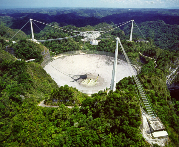 The Arecibo Observatory is a radio telescope in the municipality of Arecibo, Puerto Rico / Photo courtesy of the National Astronomy and Ionosphere Center - Arecibo Observatory, a facility of the NSF.
