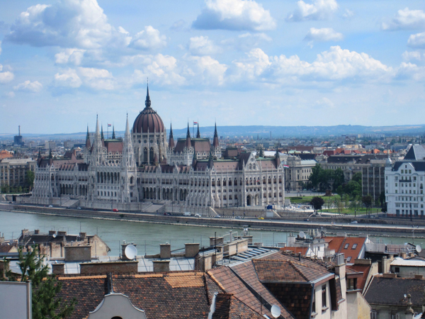 The Parliament Building in Budapest along the Danube River. / Photo: Gayle A. Shinder, Oncology Dept.