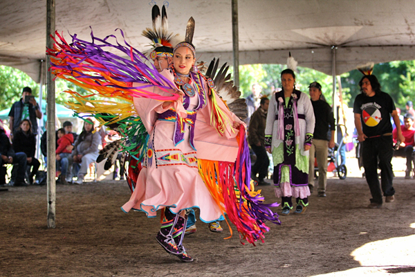 A participant during an inter-tribal dance during Friday's Pow Wow. / Photo: Neale McDevitt