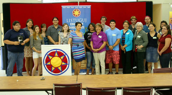 The team that helped put together the 2nd Annual Mi'gmaq Language Workshop.