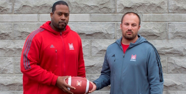 Ronald Hilaire (left) and Patrick Boies are the McGill Redmen's new  head coaches. /  Photo courtesy of McGill Athletics & Recreation