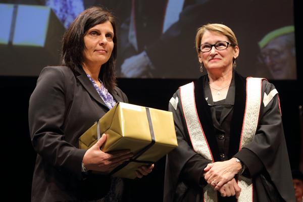Anna Ballarano, winner in the Clerical category. / Photo: Owen Egan