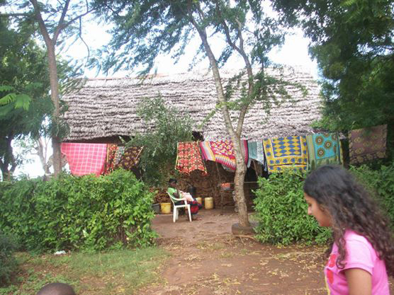 A typical dwelling in Kikambala, just outside Mombasa, Kenya, where 22,000 people live below the poverty line and without electricity. / Photo courtesy of Salima Visram