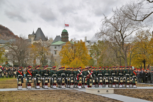 A scene from last year's Remembrance Day Ceremony on lower campus. / Photo: Neale McDevitt