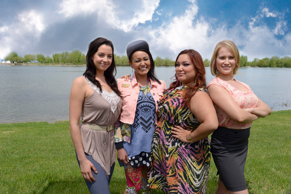 The four stars of Mohawk Girls (from left to right): Jenny Pudavick as Bailey; Maika Harper as Anna; Heather White as Caitlin; and Brittany LeBorgne as Zoe. / Photo courtesy of Rezolution Pictures