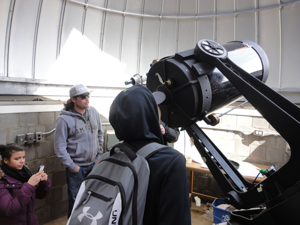 Kahnawake Survival School students take a tour of McPherson Observatory offered by by the McGill Astrophysics and Cosmology Department. / Photo: Allan Vicaire