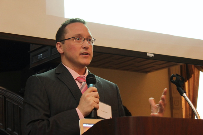 McGill's new Sustainability Manager, François Miller, emceed the event.