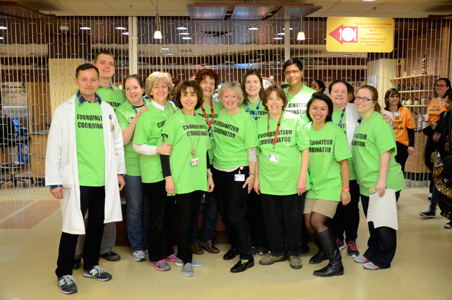 Some 2,500 staff members worked in colour-coded teams to help pull off the complex move without a hitch. / Photo courtesy of the MUHC