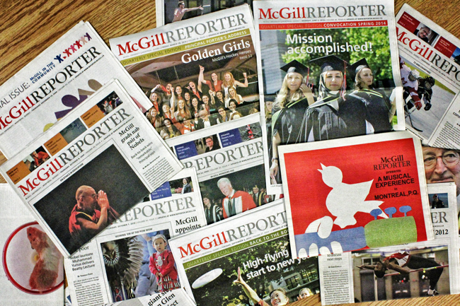 The McGill Reporter first hit the stands in 1968. The last print edition will be issued on May 29, 2015.