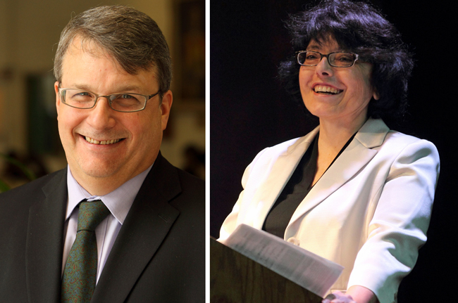 McGill's new Deans: Prof. R. Bruce Lennox will serve as Dean of the Faculty of Science, and Prof. Josephine Nalbantoglu has been appointed as Dean of Post-graduate and Doctoral Studies. / Photos: Owen Egan