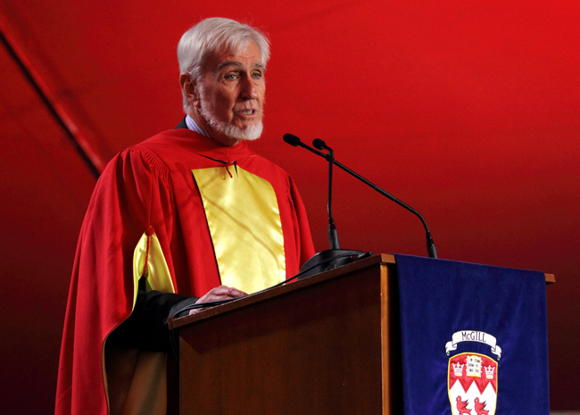 John O'Keefe delivers his Convocation address. / Photo: Owen Egan