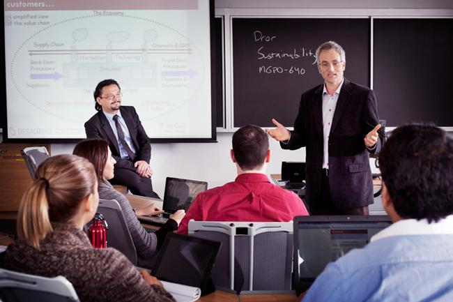 En préservant la petite taille des cohortes, le programme de MBA de McGill est en mesure d'offrir des services de développement de carrière personnalisés. / Photo: Christian Fleury