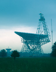 The Green Bank Telescope in West Virginia, one of several telescopes around the world that Vicky Kaspi uses to comb the stars