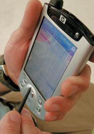 The wireless hand-held computer that physicians use to check prescription and drug safety information