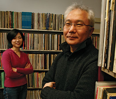 Professor Ichiro Fujinaga and PhD student Catherine Lai explore ways to digitize and retrieve analog recordings.