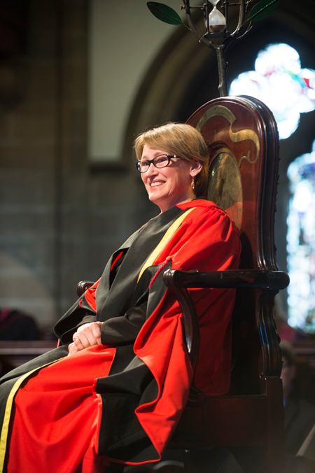 Professor Suzanne Fortier during today's / Photo courtesy of the University of Glasgow