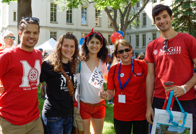 McGill Principal and Vice-Chancellor Suzanne Fortier was on hand during Saturday's festivities.