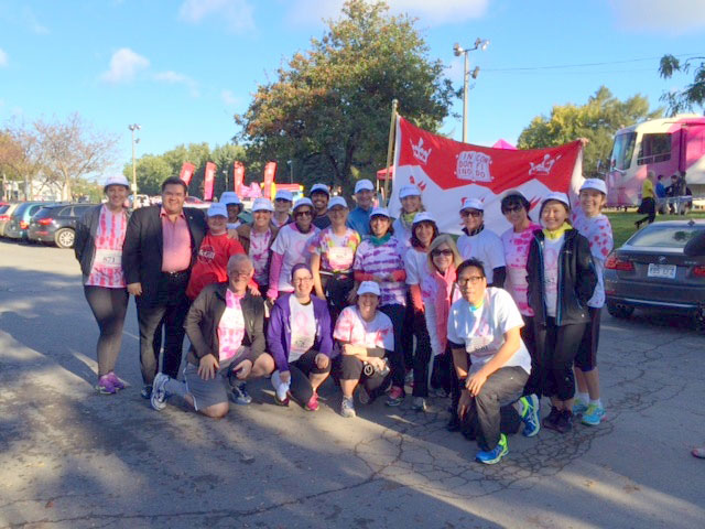 Join McGill's Answer for Cancer team (Canadian Breast Cancer Foundation CIBC Run for the Cure in Montreal).