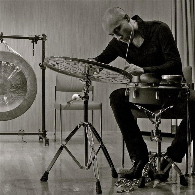 Spanish percussionist Luis Tabuenca